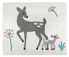 Baby Kids Floor Bedroom Rug For Sweet Jojo Designs Grey White Deer Bedding Sets