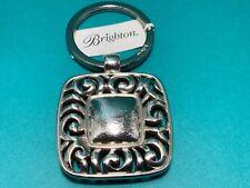 """Brighton """"Baretta"""" Silver Square Key FOB Key Chain NWT"""