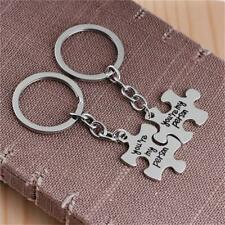 Valentines Gifts Key Ring for His and Hers - Puzzle Heart Keychain FA