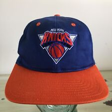 NEW YORK KNICKS - Vtg 90s Blue SnapBack Twins Hat Cap - MUST SEE, EXCELLENT!