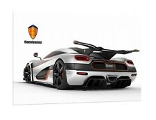 Koenigsegg One:1 - 30x20 Inch Canvas - Supercar Framed Picture Print Wall Art