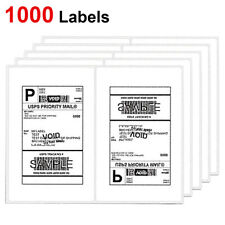 1000 Shipping Labels 85x55 Rounded Corner Self Adhesive 2 Per Sheet Usps Ups