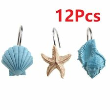 12 pack Fashion Decorative Home Bathroom Seashell Shower Curtain Hooks