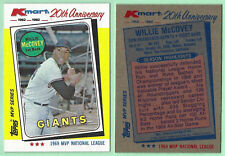 WILLIE McCOVEY KMART 20th ANNIVERSARY - 1982 TOPPS MVP SERIES - HALL OF FAME