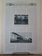 Vintage Print,REFORMATION ROYAL AIRFORCE,Illustrated London News,Feb 1920