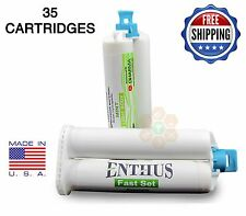 Enthus LIGHT BODY VPS PVS Impression Material FAST Set 35 X 50ML Cartridges