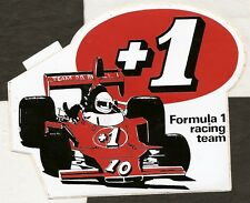 +1 P R REILLY F1 TEAM BRITISH GP 1976 SHADOW ORIGINAL PERIOD STICKER AUTOCOLLANT