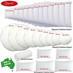 EASYREST Australian Made Cushion Inserts Premium Polyester Filled - 12 sizes