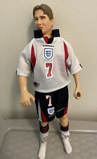 """More details for rare david beckham england kit doll 1997 movable collectable 12.5"""" world cup vgc"""