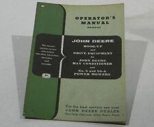 John Deere Operators Manual Hook-Up & Drive Equipment #5 & 20-A Power Mowers