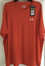 Nwt Mens Under Armour Tech Orange Performance Tee ~ Size 2Xl ~ Msrp $24.99