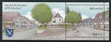 Switzerland 2018 MNH Stamp Day Allschwill 1v M/S Architecture Tourism Stamps