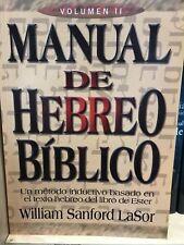 Manual De Hebreo Biblico v2  Willian Sanford Lasor tapa suave