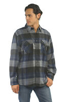 YAGO Men's Casual Plaid Flannel Long Sleeve Button Up Shirt Blue/2E (S-5XL)