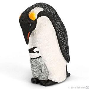 NEW SCHLEICH 14632 Emperor Penguin with Chick Sea Ocean Arctic Antarctic RETIRED