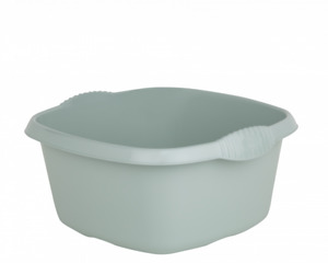 Square Plastic Washing Up Bowl Kitchen Cutlery Tidy Bowl (Silver Sage)