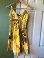 Speed Control New York Size Small Spaghetti Strap Yellow Dress Floral Cute VGUC