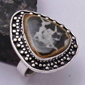 Septarian Ethnic Handmade Ring Jewelry US Size-6.75 AR 41844