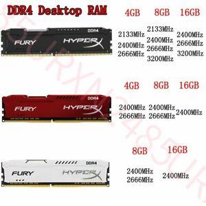 32GB 16GB 8GB 4GB DDR4 2133 2400 2666 3200 Desktop Memory For HyperX FURY Lot UK