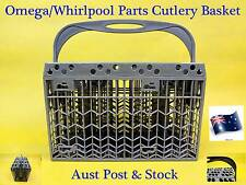 Omega, Whirlpool Dishwasher Cutlery Basket Rack (Grey) Brand NEW