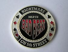 Bad Beat Silver Poker Card Guard
