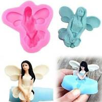 Fairy Angel Silicone Fondant Cake Chocolate Icing Sugar Craft Mould Tool 3D-