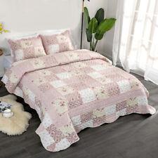 Luxury Patchwork Coverlet Bedspread Set Comforter Quilt Queen King 230x250cm A1