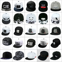 Unisex Men Women Snapback Adjustable Baseball Cap Hip Hop Hat Cool Bboy Brim Cap
