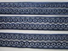 3 METER Spitze Dunkel blau 2,8cm breit Borte 017 Eröffnungspreis Nur 1,20€/3m