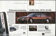 1991 CADILLAC SEVILLE 2-page advertisement, Seville STS