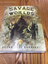 Savage Worlds Shane Lacy Hensley Roleplaying Games Hardcover Book With Templates