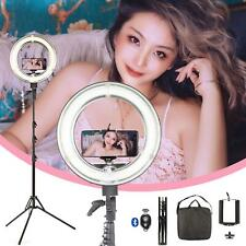 """Dimmable Ring Light 14"""" Phone Selfie Makeup Youtube Video Live Camera Photo UK"""