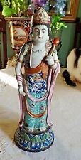 """Grande et sublime Antique Japonais Porcelaine Regal Lady Figure 12.4"""""""