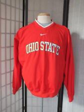 OHIO STATE NIKE MEN'S RED/WHITE/GRAY POLYESTER  PULLOVER WIND GOLF SHIRT SIZE M