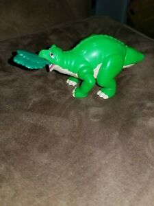 """Vintage BK Spike Land Before Time Burger King Toy 1997 5"""" Pull Leaf Tail Shakes"""