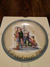 "Schmid Christmas 1981 Collector Plate ""A Time To Remember"" Berta Hummel"
