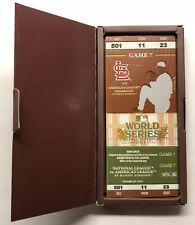 2011 Commemorative World Series Game 7 Collectors Ticket St. Louis Cardinals NIB