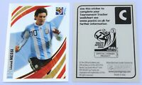 Panini WM 2010 - UK Tournament Tracker Sticker Lionel Messi # C Argentina - RARE