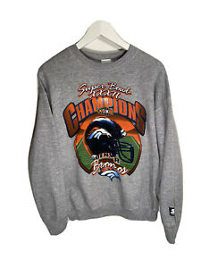 Vintage Denver Broncos Starter Super Bowl 33 Sweatshirt Size Youth XL Womens S