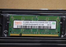 HYNIX RAM MEMORY DDR2 512Mb 2RX16 PC2-5300S-555-12 HYMP564S64CP6-Y5 AB