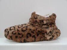 Totes ladies Leopard Fur Lined Booties  UK 7-8 Ref M1094^