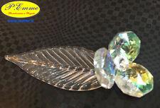 Fiore in Cristallo con foglia - Bomboniera Nozze Comunione Cresima