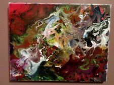 Original Abstract Acrylic Painting on Canvas by Abrast Artist (11x14 Inches)