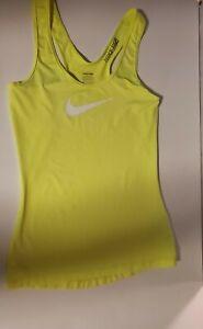 EUC! Nike Pro Sz XS Fluorescent Racer BackTank Top Running Gym Work Out Dri-fit