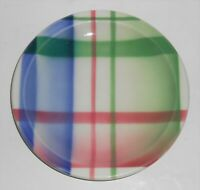 Syracuse China Restaurant Ware Thistle Plaid Air Brushed Bread Plate
