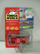 NEW TOMICA WORLD ROAD & RAIL SYSTEM MOTORISED DIE-CAST FIRE ENGINE TRUCK TOMY