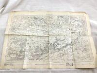 1887 Antico Francese Mappa Provins Champagne Ile De France 19th Secolo Originale