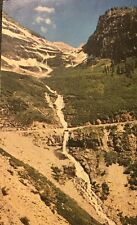 Cascade On The West Side Of Logan Pass Glacier National Park Montana Post Card