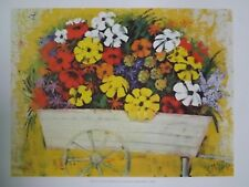 SUPERBE LITHOGRAPHIE: *FLOWERS FOR SALE par SAVAGE* AVEC CERTIFICAT AU DOS.