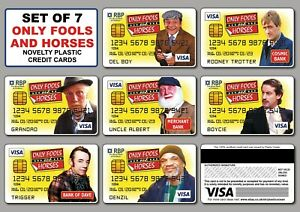 Set of 7 - Only Fools and Horses Novelty Plastic Credit Cards